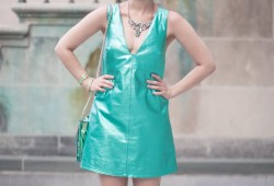 mermaid outfit robe en cuir - paulinefashionblog.com_-2