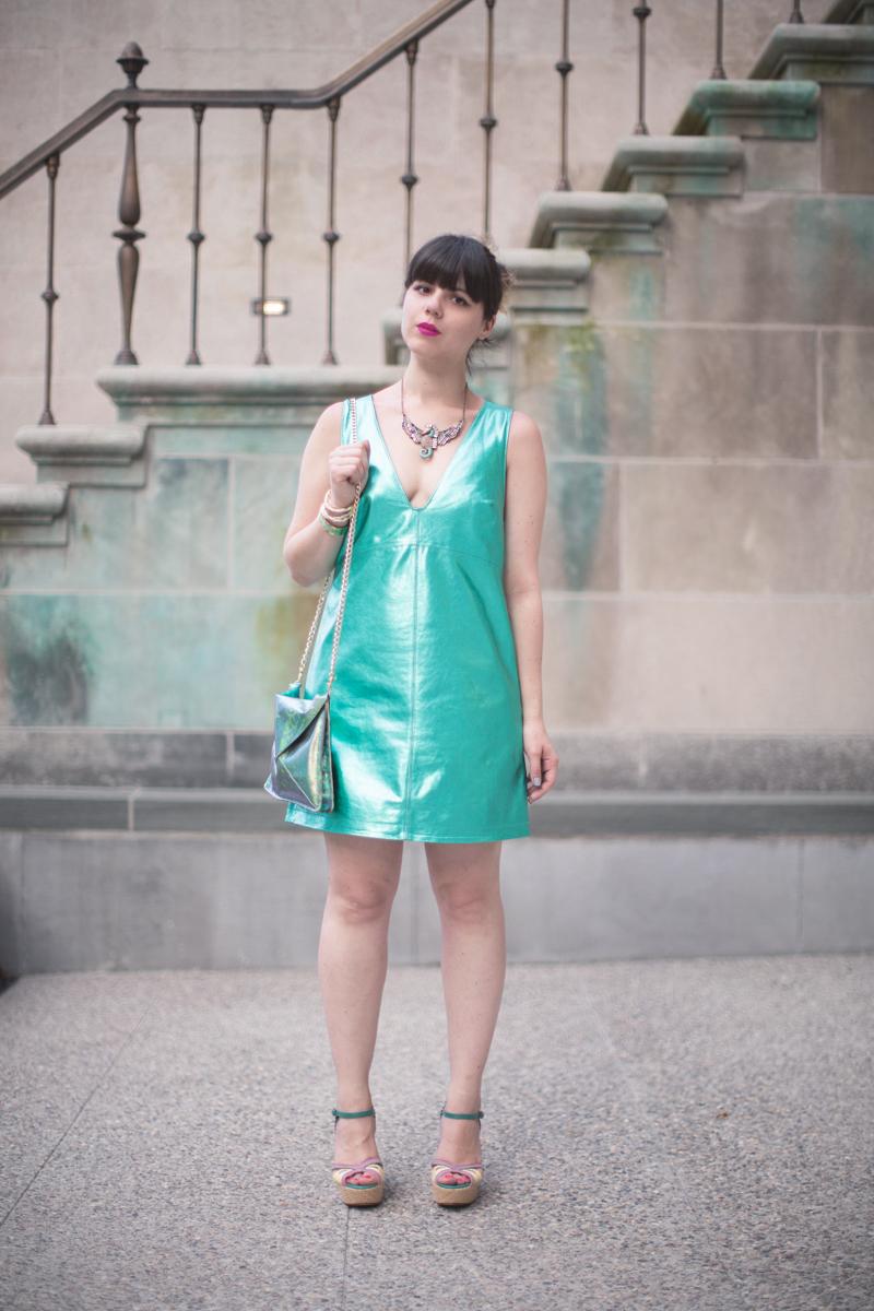mermaid outfit robe en cuir - paulinefashionblog.com_-4
