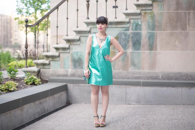 mermaid outfit robe en cuir - paulinefashionblog.com_