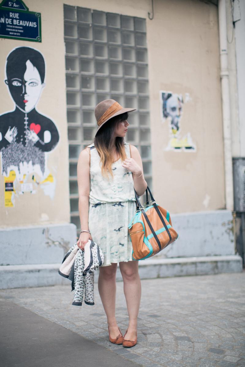 valentine gauthier virginie castaway borsalino paulinefashionblog.com   5 à Paris