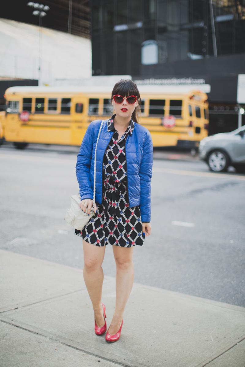 Mlle Plume New York Fashion Week doudoune comptoir des cotonniers paulinefashionblog.com  10 Mademoiselle Plume : le retour !
