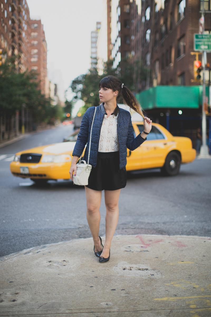 Mlle Plume New York Fashion Week doudoune comptoir des cotonniers paulinefashionblog.com  3 Mademoiselle Plume : le retour !