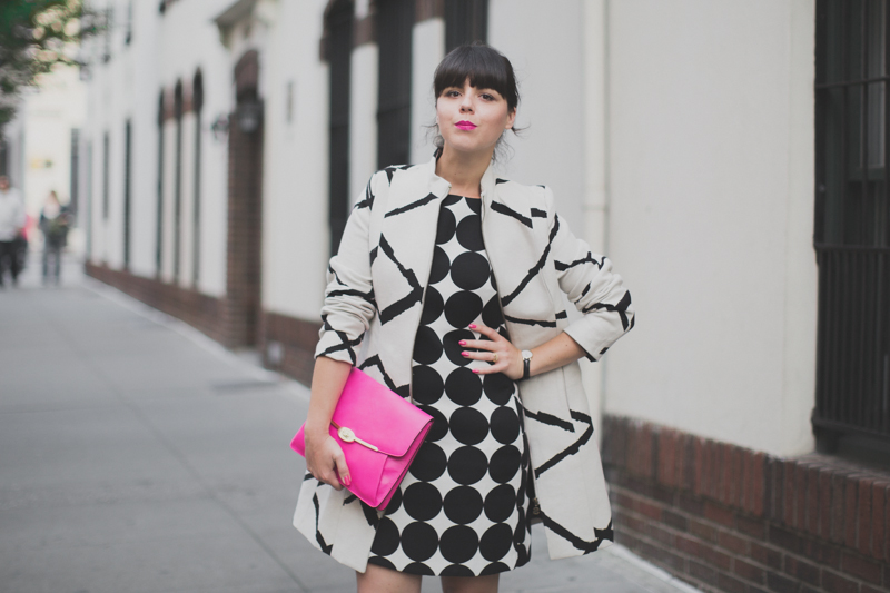 desigual coat and dress coach madison clutch paulinefashionblog.com  10 Pink & Prints