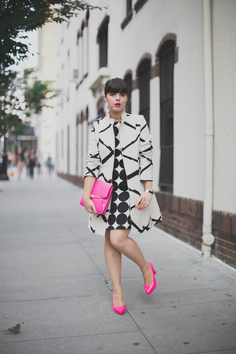 desigual coat and dress coach madison clutch paulinefashionblog.com  11 Pink & Prints