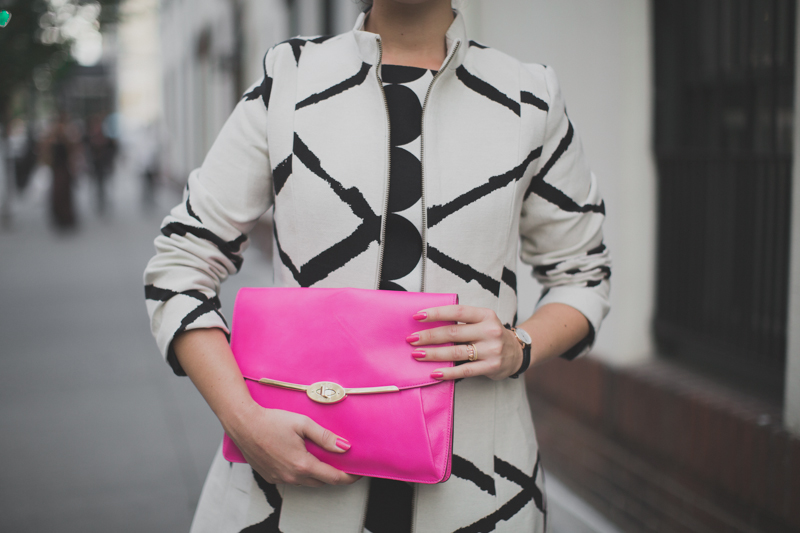 desigual coat and dress coach madison clutch paulinefashionblog.com  3 Pink & Prints