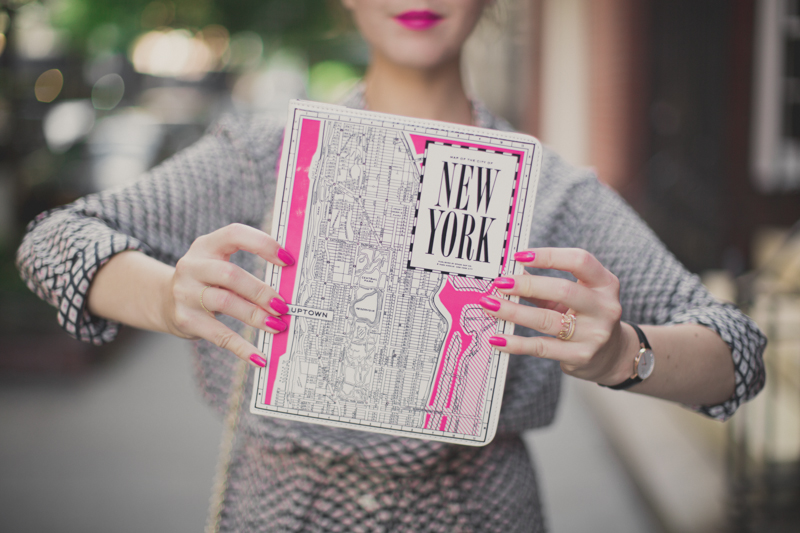 kate spade new york city map ipad folio gola liberty coach madison clutch celia birtwell silk uniqlo dress paulinefashionblog.com  6 Think Pink