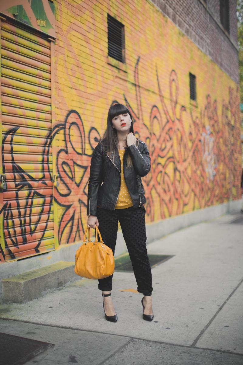 1 mademoiselle r la redoute pantalon pull a pois - paulinefashionblog.com_-3