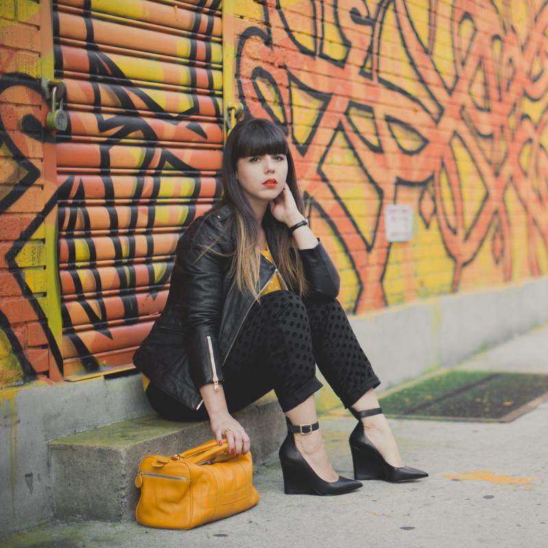 1 mademoiselle r la redoute pantalon pull a pois - paulinefashionblog.com_