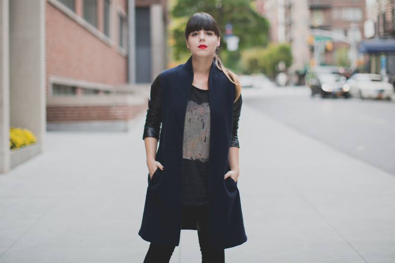 Berenice manteau legging cuir et daim paulinefashionblog.com  5 Leather