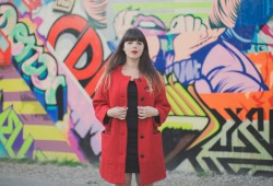 Manteau rouge ASOS red coat bowery street art wall ny - paulinefashionblog.com_-4