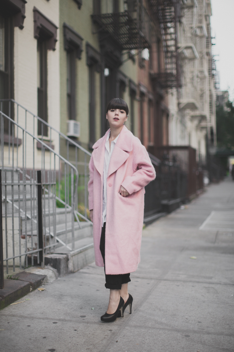 manteau rose pink coat oversize asos - paulinefashionblog.com_-2