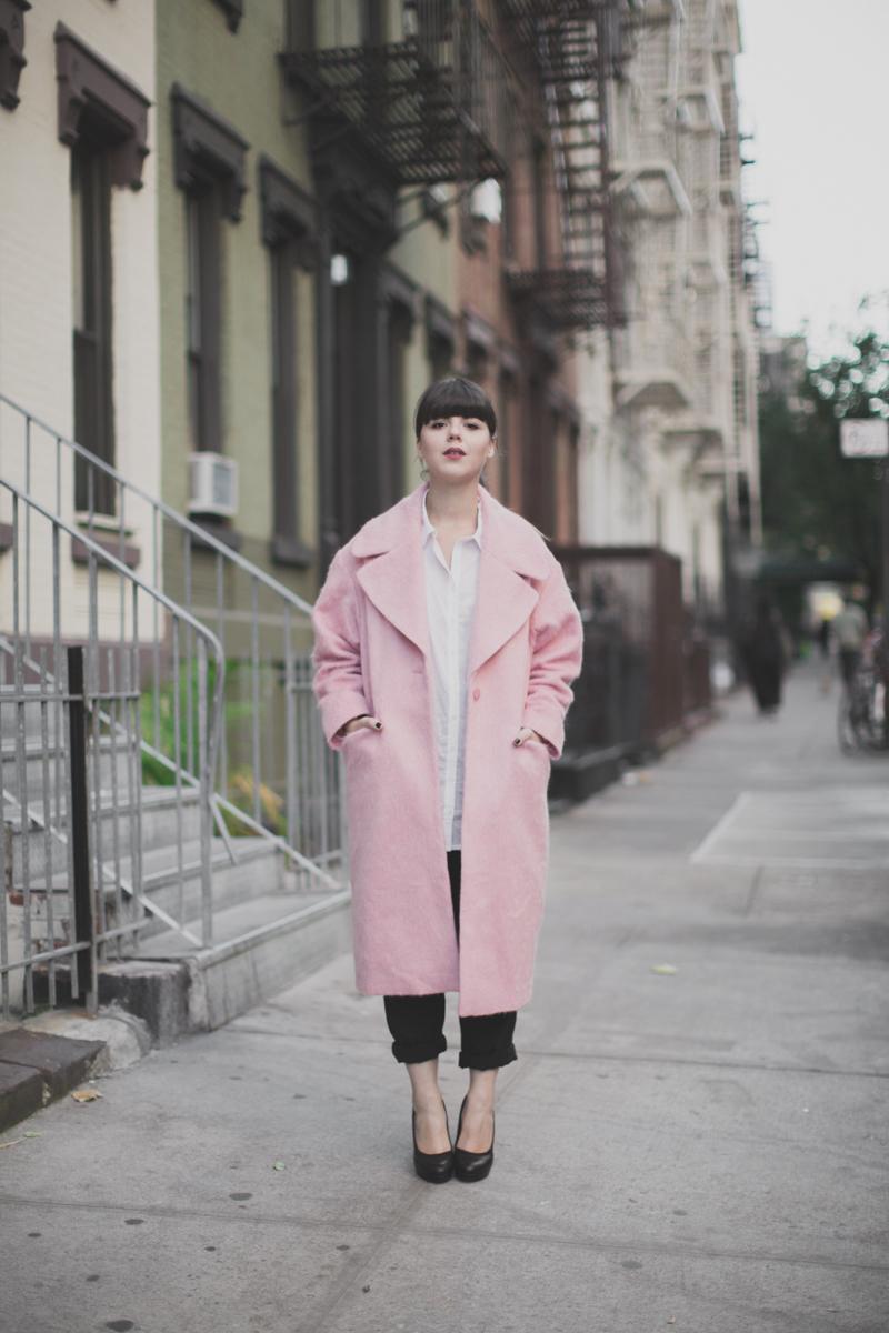 manteau rose pink coat oversize asos - paulinefashionblog.com_