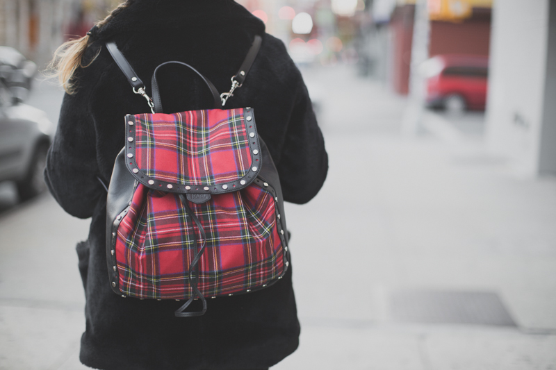 backpack Karl lagerfeld tartan leather sac a dos - paulinefashionblog.com_-2