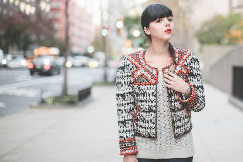 isabel marant pour hm embroidered jacket veste brodee - paulinefashionblog.com_-4