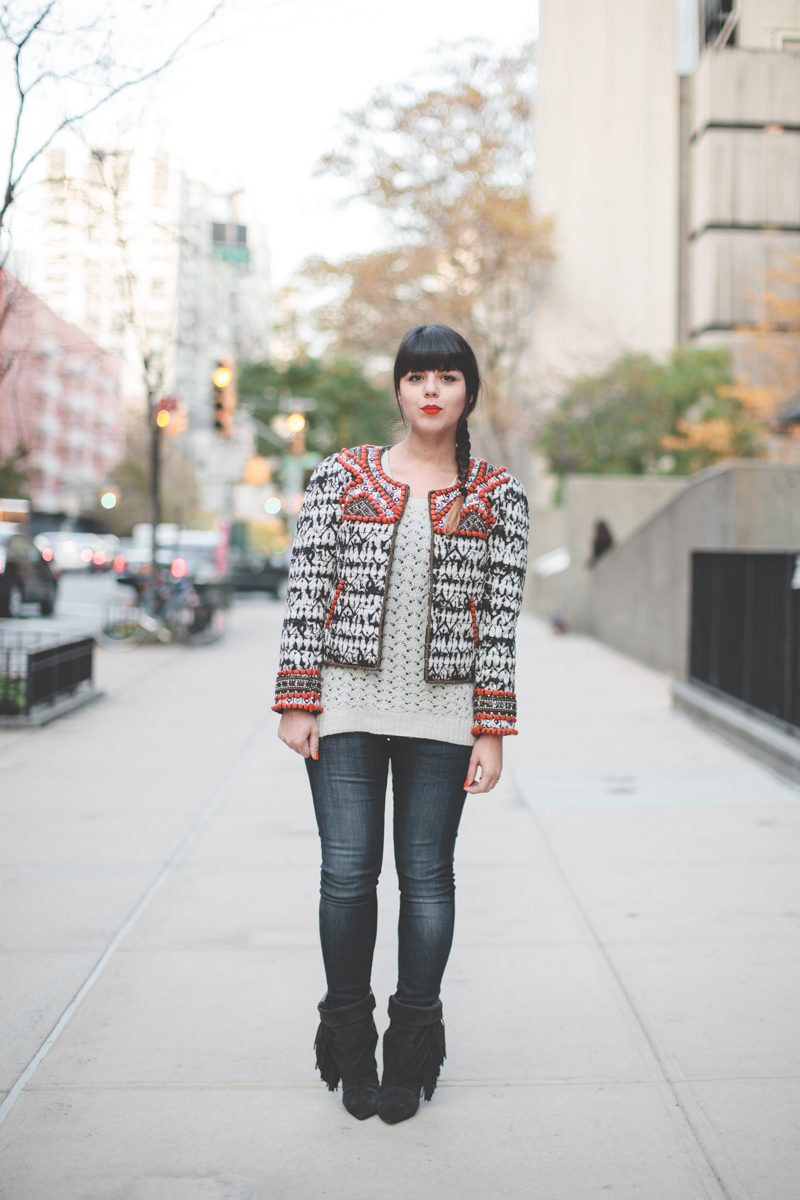 isabel marant pour hm embroidered jacket veste brodee - paulinefashionblog.com_