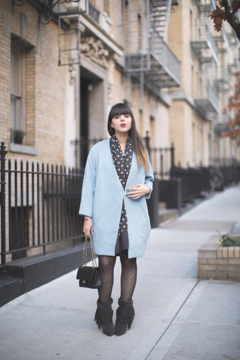 manteau bleu ciel blue coat front row shop - paulinefashionblog.com_