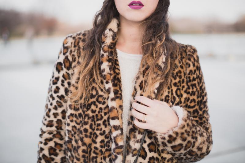 animal faux fur coat zara manteau leopard - paulinefashionblog.com_