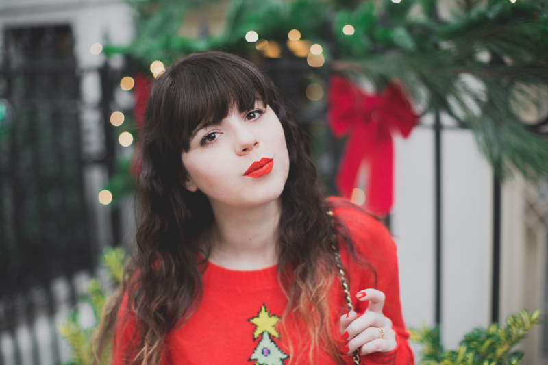 christmas sweater wildfox tree red - paulinefashionblog.com_-7