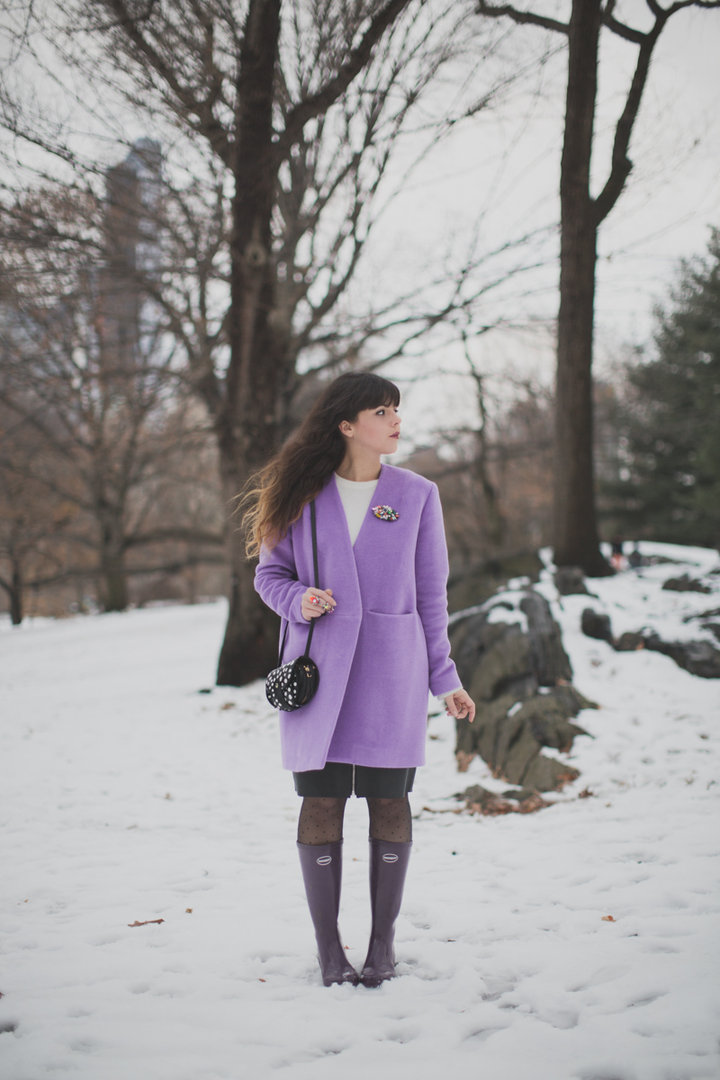 lavender coat topshop manteau lavande - paulinefashionblog.com_-2