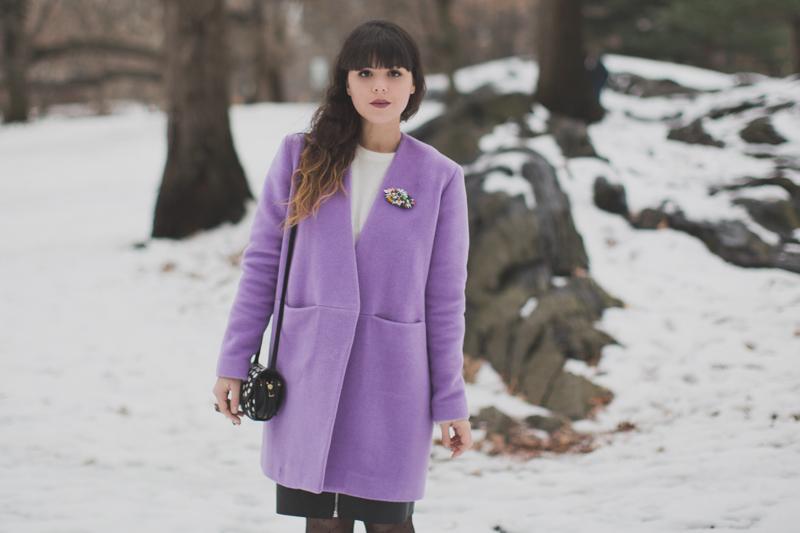 lavender coat topshop manteau lavande - paulinefashionblog.com_-3
