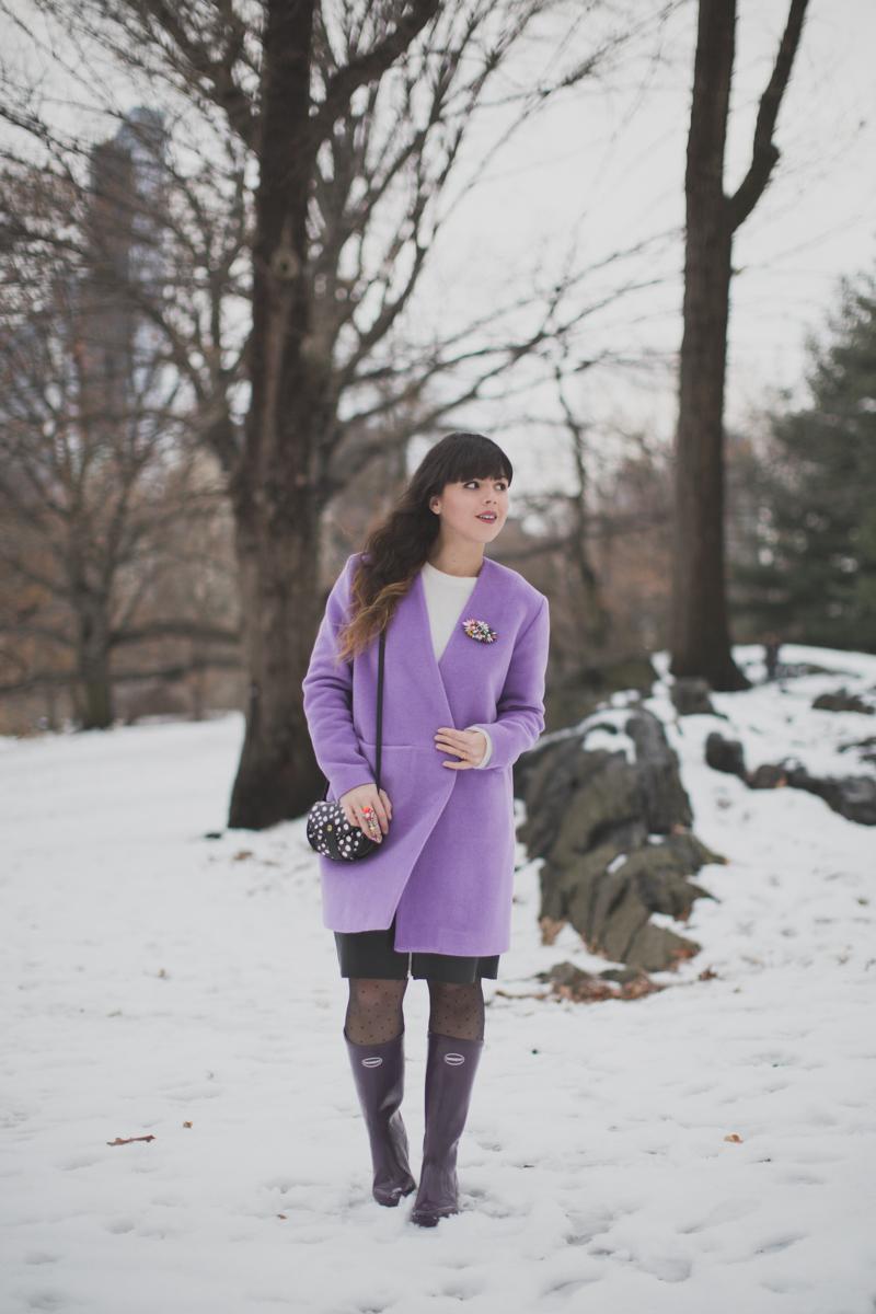 lavender coat topshop manteau lavande - paulinefashionblog.com_