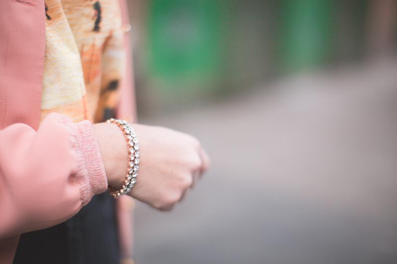 bracelets swarovski copyright paulinefashionblog.com  Blush