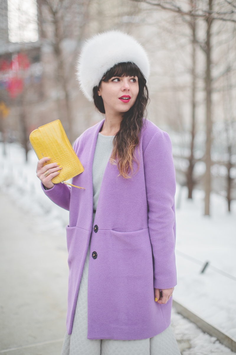 pauline blogger streetstyle white fur purple coat topshop new york fashion week fw 2014 - copyright paulinefashionblog.com_-5