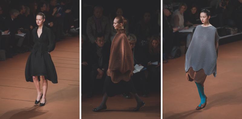 d pfw issey miyake show paris fashion week ah14 copyright paulinefashionblog.com  2 PFW FW14 Diary : suite et fin... ENFIN !