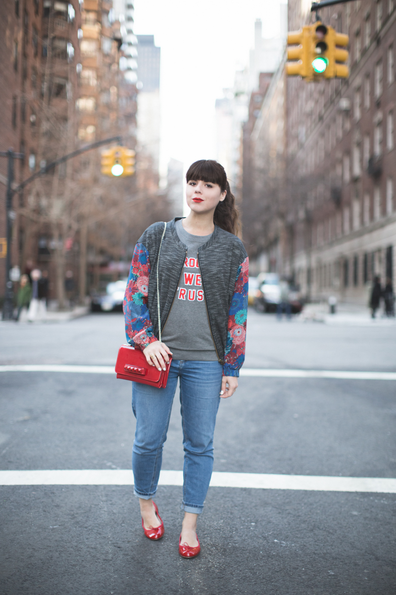 in brooklyn we trust sweater margaux lonnberg bomber jacket - copyright paulinefashionblog.com_