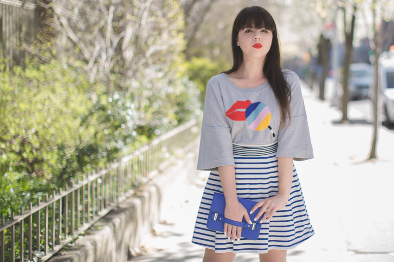 sonia by sonia rykiel lips moschino love wedges copyright paulinefashionblog.com  4 Stripes and Blooms
