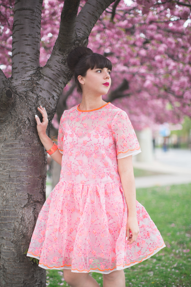 ASOS SALON 1 robe dress pink blogger outfit - copyright paulinefashionblog.com_