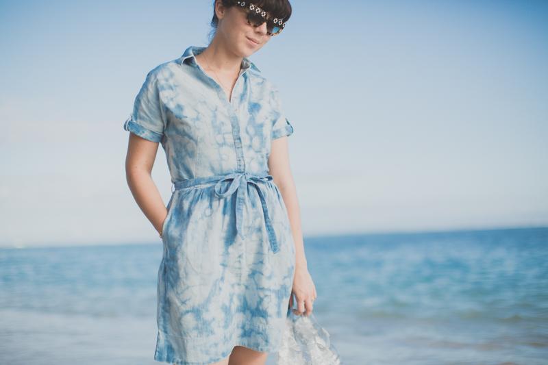 tommy hilfiger denim dress jelly shoes meduses ile de la reunion - copyright paulinefashionblog.com_-4