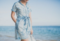 tommy hilfiger denim dress jelly shoes meduses ile de la reunion - copyright paulinefashionblog.com_-5