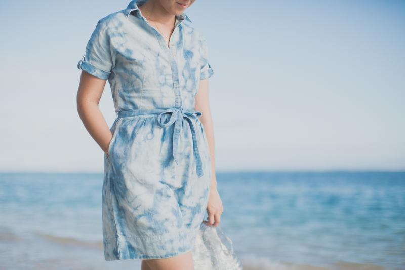 tommy hilfiger denim dress jelly shoes meduses ile de la reunion - copyright paulinefashionblog.com_-5