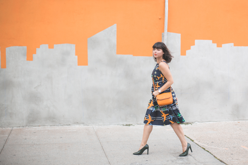 robe avion tara jarmon sac bag preston fossil skyline graffiti nyc - copyright paulinefashionblog.com_