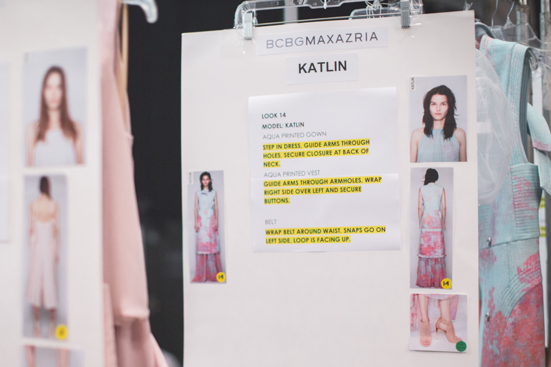 backstage BCBGMAXAZRIA Lincoln Center NYFW fashion week SS15 PE15 - copyright paulinefashionblog.com_-3