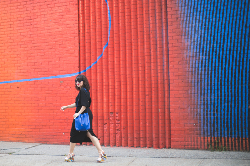 look dumbo wessley copyright paulinefashionblog.com  9 Down Under Manhattan Bridge Overpass