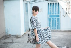 robe imprime chats paul and joe sister cat print blue dress - copyright paulinefashionblog.com_-5