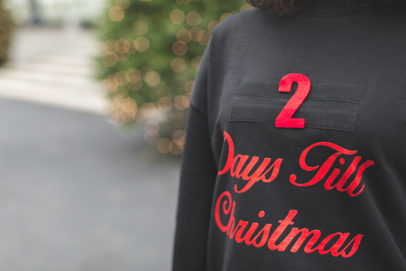 asos countdown days until christmas sweater copyright paulinefashionblog.com  9 2 days till Christmas !