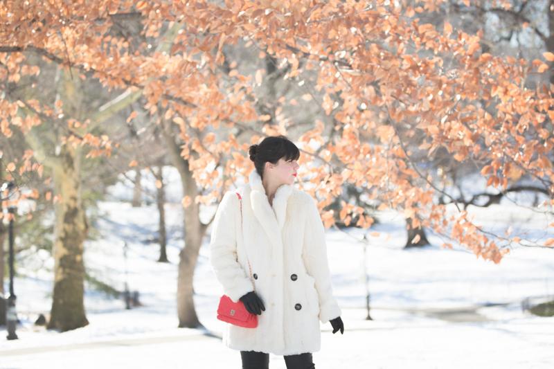 look central park neige doudoune gertrude paulette copyright paulinefashionblog.com  8 Les écureuils de Central Park sont tristes le lundi