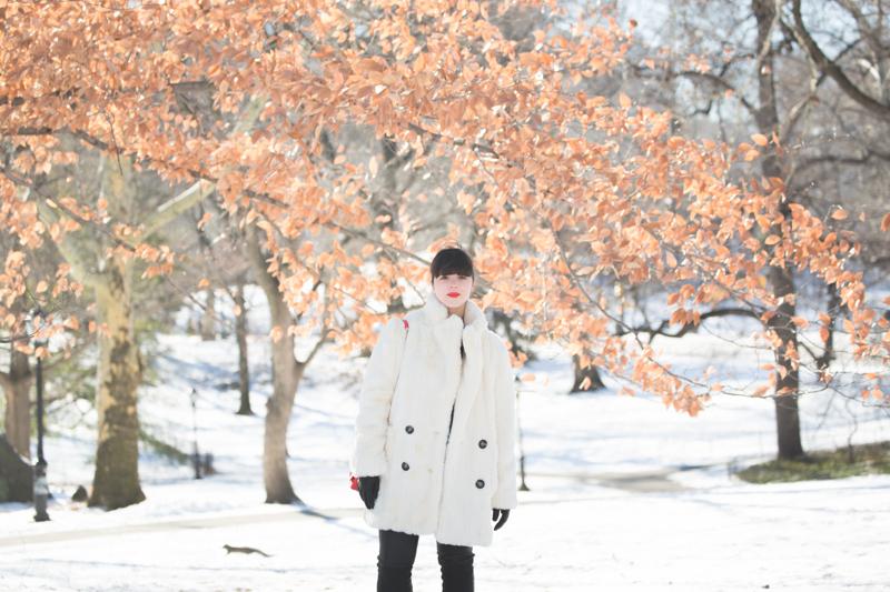 look central park neige doudoune gertrude paulette copyright paulinefashionblog.com  9 Les écureuils de Central Park sont tristes le lundi