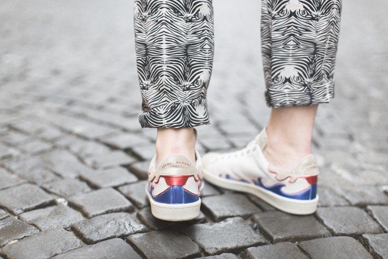 sneakers isabel marant etoile flammes copyright paulinefashionblog.com  800x533 Rue de Bourg