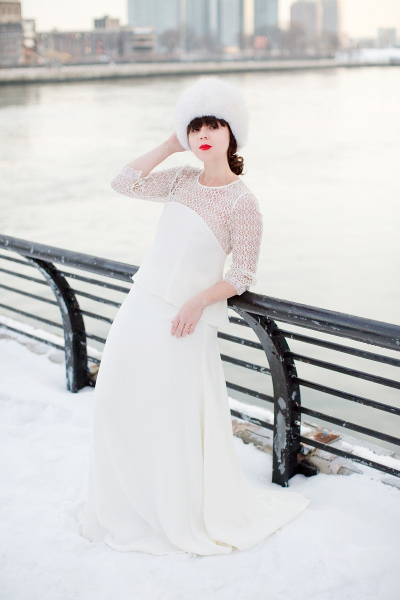 photo mariage hiver neige celine marks pauline blogueuse blogger wedding copyright paulinefashionblog.com  800x1200 Snow Bride II