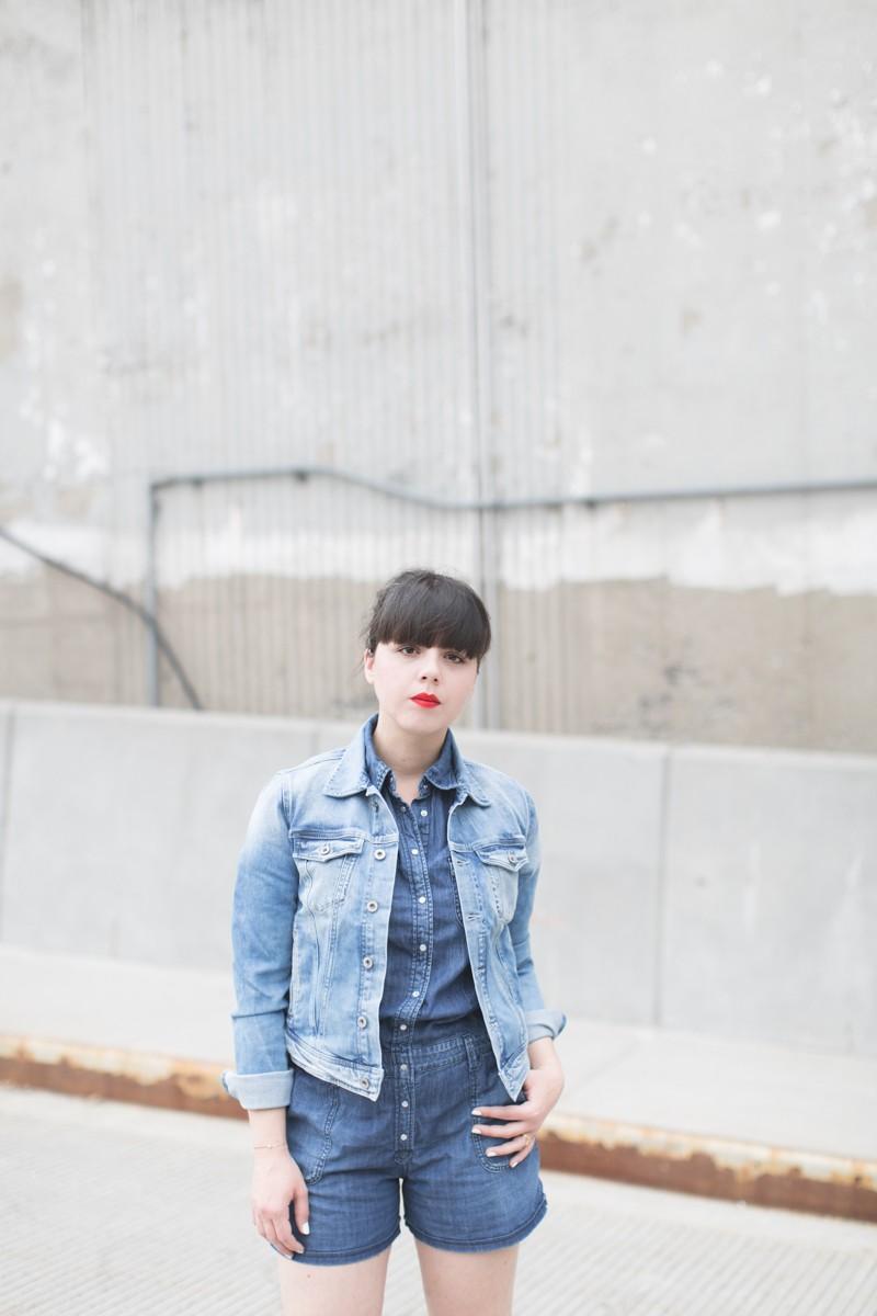 blog pepe jeans london total look demin blouson combishort jean copyright paulinefashionblog.com  3 800x1200 Blue Jeans