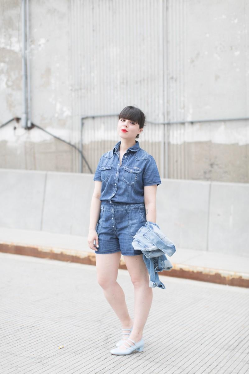 blog pepe jeans london total look demin blouson combishort jean copyright paulinefashionblog.com  6 800x1200 Blue Jeans