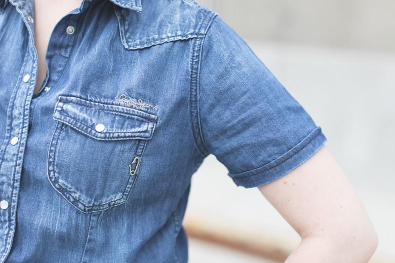 blog pepe jeans london total look demin blouson combishort jean copyright paulinefashionblog.com  7 800x533 Blue Jeans