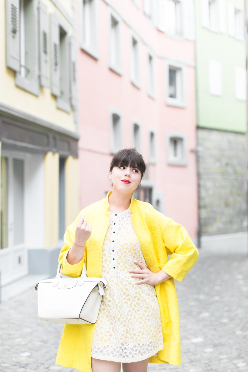 paper london coat carel shoes roseanna dress Longchamp bag copyright PAULINEFASHIONBLOG.COM 0731 800x1200 Yellow