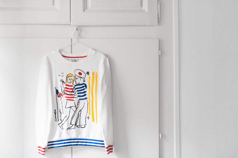 favorite things sweat petit bateau jean charles de castelbajac - photo credit paulinefashionblog.com-1