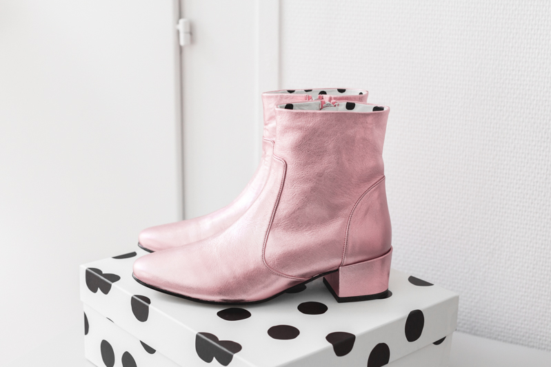 inventaire make my lemonade wear lemonade jonak diego boots roses - photo credit paulinefashionblog.com-1