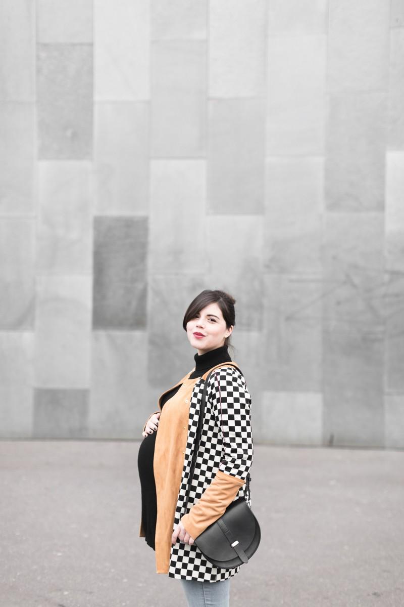 look femme enceinte blogueuse heimstone veste charleston sezane claude - copyright Pauline paulinefashionblog.com-5